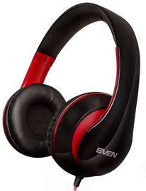 Ausinės Sven AP-940MV Headphones w/Mic Black Red