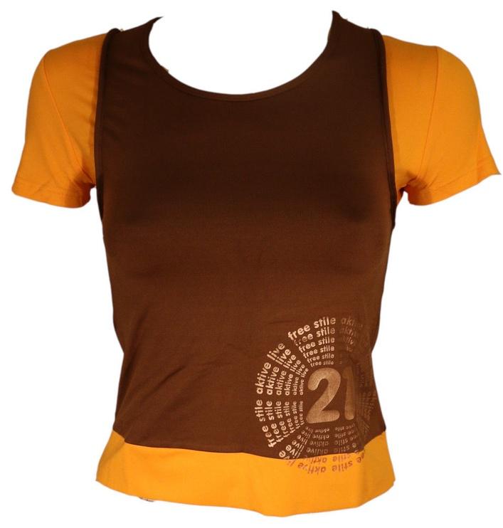 Футболка Bars Womens T-Shirt Brown/Yellow 134 XL