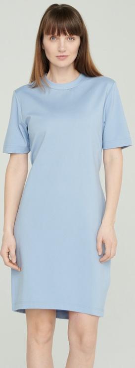 Audimas Stretch Short Sleeves Dress Blue S