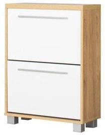 Bodzio Shoe Cabinet Panama PA60 White/Dark Sonoma Oak