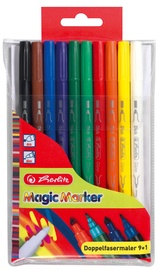 Herlitz Double Felt Pens 10-Pieces Magic Colours