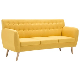 Диван VLX 3-Seater Sofa Fabric Upholstery, желтый, 70 x 172 x 82 см