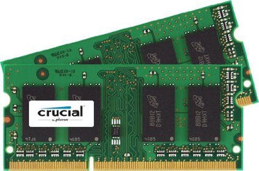 Crucial 16GB 1600MHZ DDR3 CL11 SODIMM KIT OF 2 CT2KIT102464BF160B