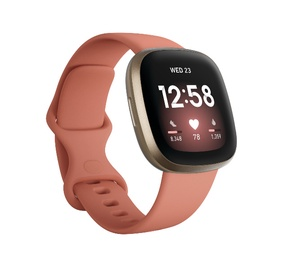 Išmanusis laikrodis Fitbit VERSA 3, aukso/rožinė