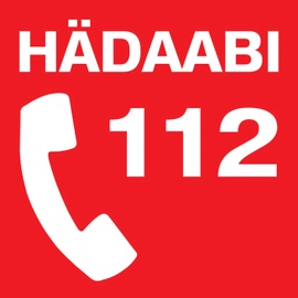 Ohutusmärk Hädaabi 112 kleebis 10x10cm