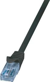 LogiLink Patch Cable Cat.6A 10GE Home U/UTP EconLine 0.25m Black