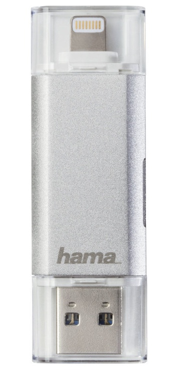 Hama Save2Data duo USB 3.0/Lightning To MicroSD Card Reader Silver