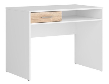 Black Red White Nepo Desk Sonoma Oak/White