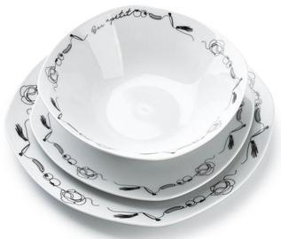 Mondex Delicouis Dinner Set White 18pcs