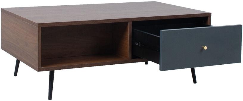 Kafijas galdiņš Home4you Rio, brūna/melna/pelēka, 980x600x380 mm