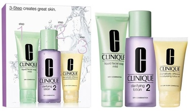 Clinique 50ml Liquid Facial Mild Soap + 100ml Clarifying Lotion2 + 30ml Moisturizing Lotion