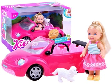 Кукла Doll With A Pink Car And A Dog