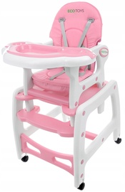 EcoToys Rocking Feeding Chair 3in1 Pink