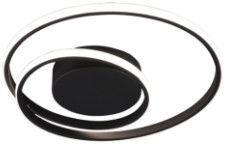 Trio Zibal matines juodos spalvos lubinis LED šviestuvas, 22W, 2200lm, 3000K, trijų pakopų jungiklio pritemdymo funkcija