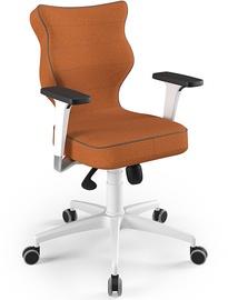Entelo Perto White Office Chair FC34 Orange