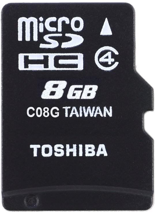 Toshiba M102 8GB microSDHC Class 4 + Adapter