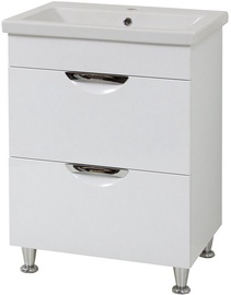 Sanservis Laura 50-2 Cabinet with Basin White 50x80x40cm