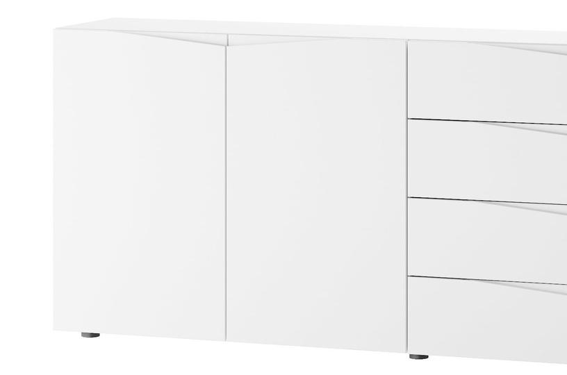 Комод Szynaka Meble Lucca 03 White, 200x38x83 см