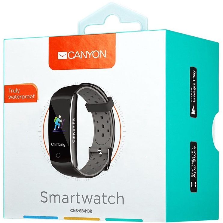 Canyon Colourful Fitness Band for Sports Fans Black Grey