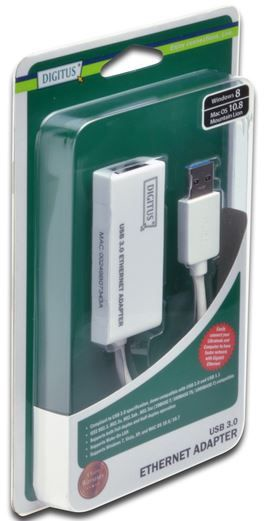 Digitus Adapter USB to RJ-45 White