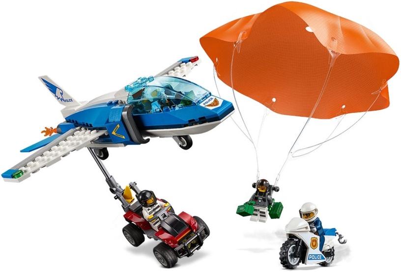 Konstruktorius LEGO® City 60208 Padangės policijos parašiutininko suėmimas