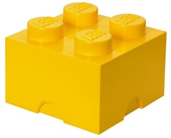 LEGO Storage Brick 4 Knobs Medium Yellow