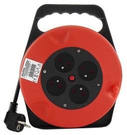 Qoltec Cable Reel 4 outlets 10m
