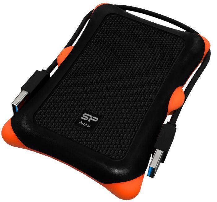 Жесткий диск Silicon Power Armor A30, HDD, 1 TB, черный/oранжевый