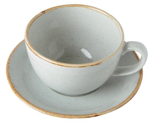 Porland Seasons Cup With Saucer 32cl Grey