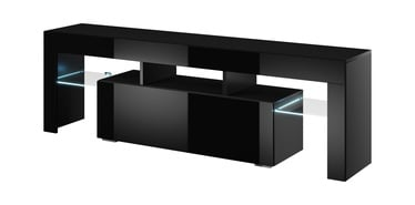 Cama Meble Toro 138 TV Stand Black/Black Gloss
