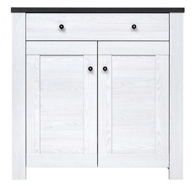 Black Red White Antwerpen Chest Of Drawers 40x101x101cm White