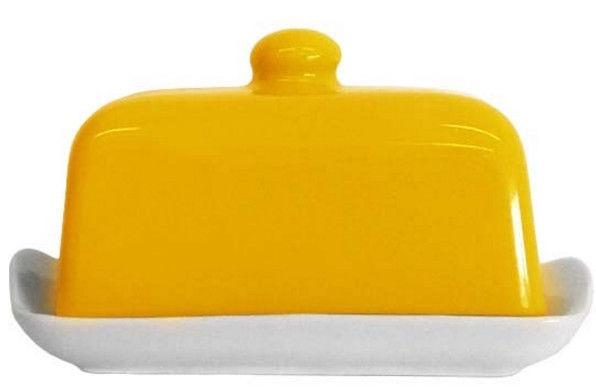 Cesiro Butter Dish 17x12cm Yellow