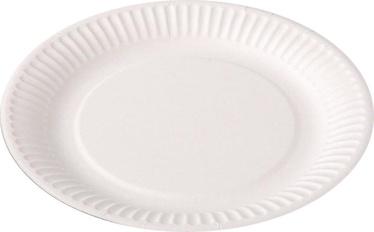 Spino Cardboard Plate D18cm 12Pcs White