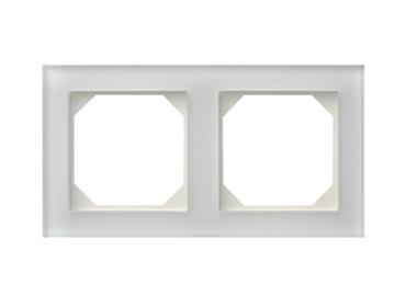 Dvivietis rėmelis Liregus Epsilon, blizgus baltas stiklas