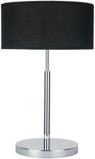 Light Prestige Narni Table Lamp 60W E27 Black/Silver