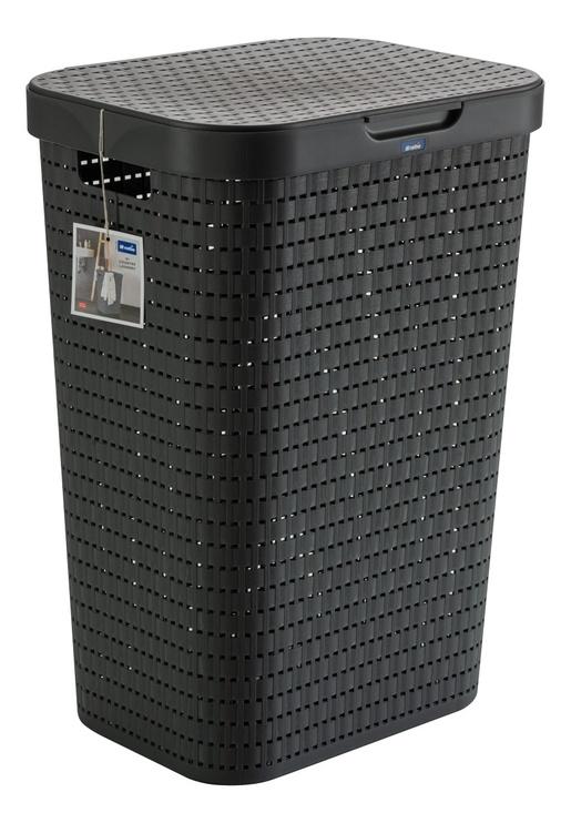 Veļas kaste Rotho Country Laundry Hamper Anthracite 55l