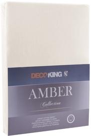 Palags DecoKing Amber, smilškrāsas, 120x200 cm, ar gumiju