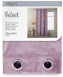 Öökardin AmeliaHome Velvet, roosa, 1400x2450 mm