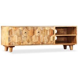 TV-laud VLX Solid Mango Wood 245136, pruun, 1180 mm x 350 mm x 400 mm
