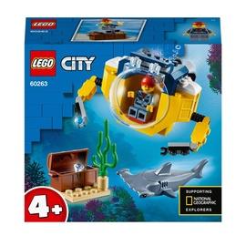 Konstruktorius LEGO® City 60263 Vandenyno mini povandeninis laivas