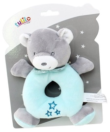 Axiom New Baby Teddy Bear Rattle Mint 16cm 4951b