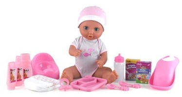 Dolls World Doll Baby Tinkles 38cm + Accessories Set 08124