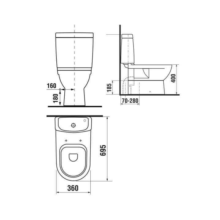 Tualetes pods WC Jika Mio