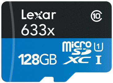 Lexar 128GB High-Performance Micro SDXC 633x UHS-I + SD Adapter
