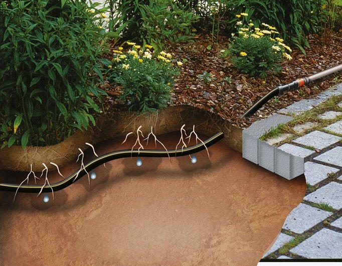 Gardena Extension Below & Above Ground Drip Irrigation Line 13.7mm 50m