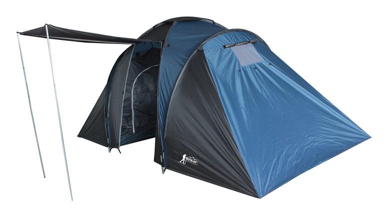 Četrvietīga telts Royokamp Family 100804, zila/melna