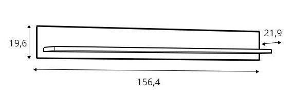 Cortina CNAP02 Wall Shelf 20x21x157cm 3040025