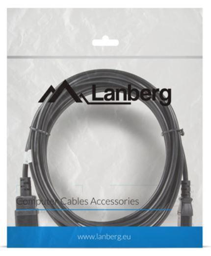 Lanberg Cable IEC C14 / IEC C13 5m Black