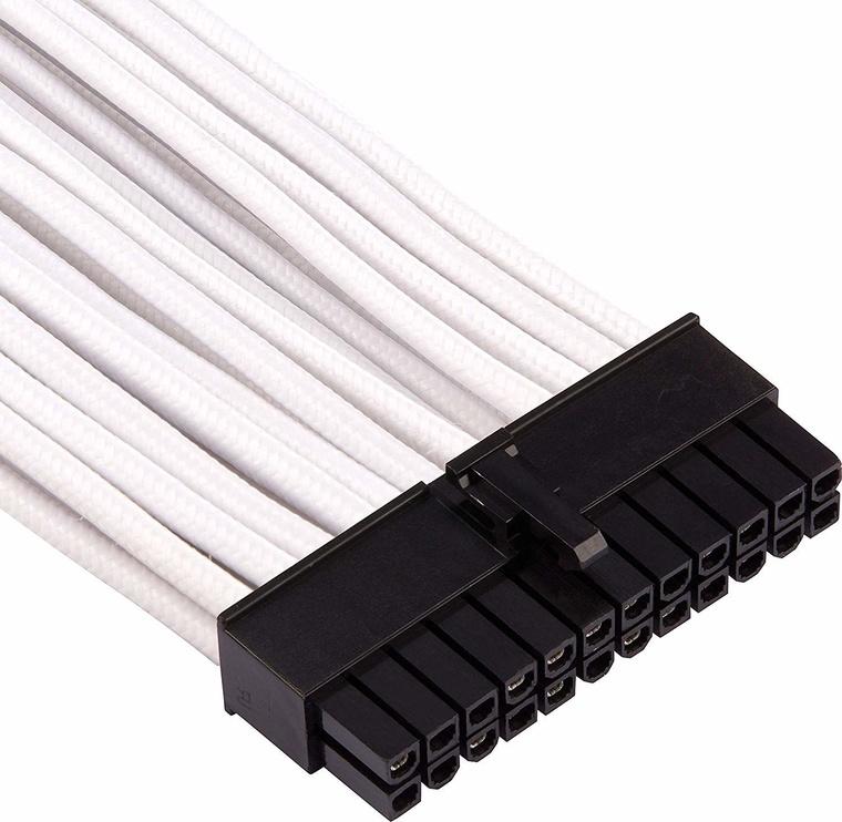 Corsair Premium Sleeved 24-pin ATX cable Type 4 Gen 4 White