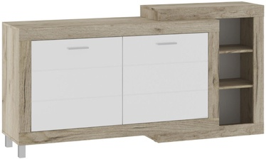 Tuckano Ultra Chest of Drawers 1790x900x420mm Oak/White